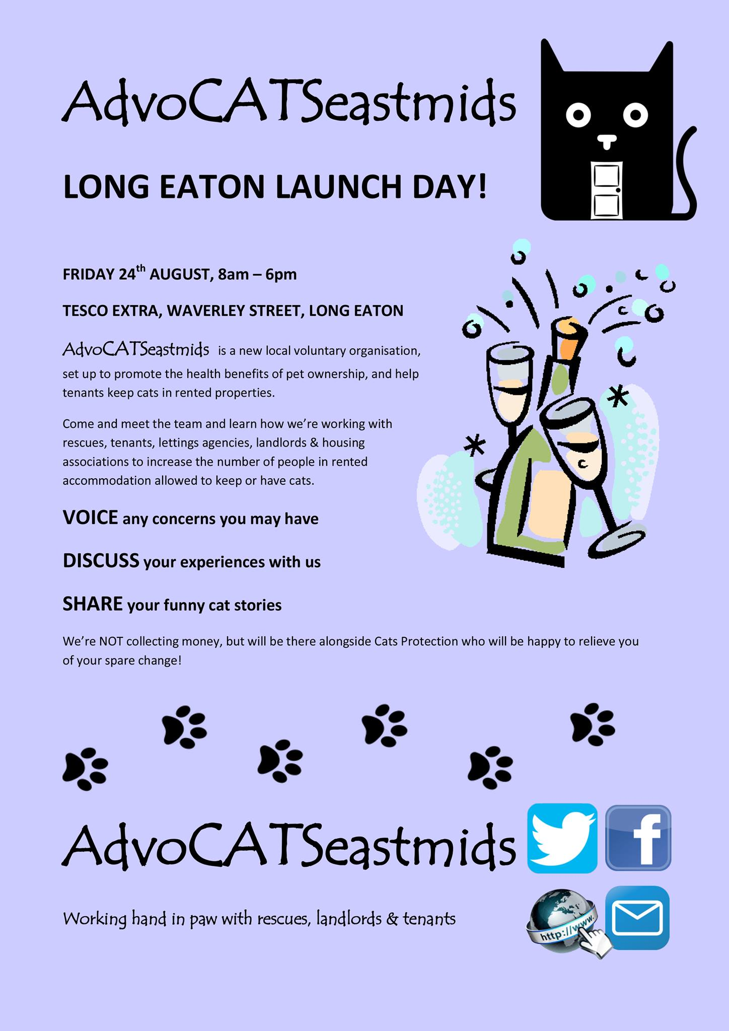 AdvoCATS East Midlands Launch Day Long Eaton